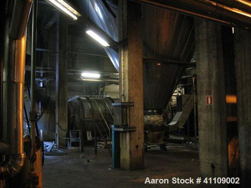 Used-Niro Spray Dryer. Material of construction is stainless steel. Capacity 5 tons per hour. 34.13' diameter x 42.25' high ...