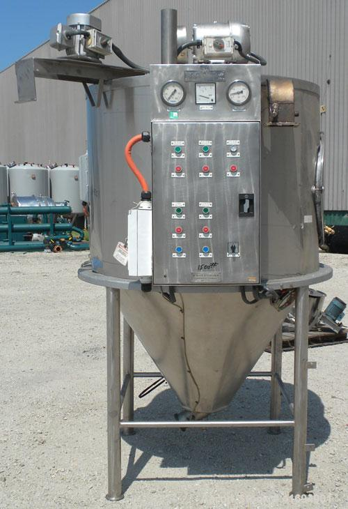 Used- Niro Versitile Utility Spray Dryer, 304 stainless steel. Up to 10 to 25 kilograms an hour (22-55#) evaporation capacit...