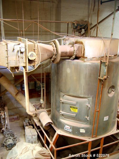 USED: Niro spray dryer, 8' diameter chamber, stainless steel construction. Includes control panel, burner, gas train combust...
