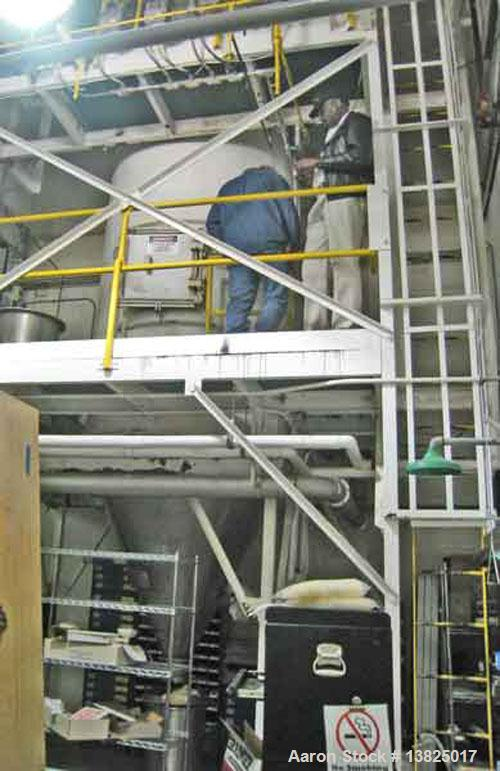 Used-Pilot Plant Spray Dryer System suitable for powders and detergents.  Capacity 30 pounds/hour.  30 to 75 pound batch siz...