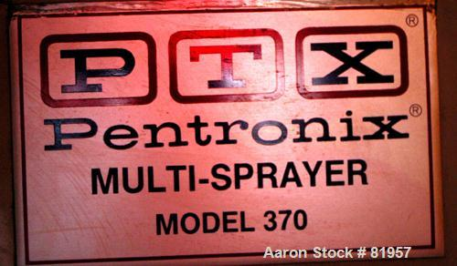 """Used- PTX Pentronix Multi-Sprayer, Model 370, Stainless Steel. Electrically heated chamber 39"""" diameter x 27"""" straight side ..."""