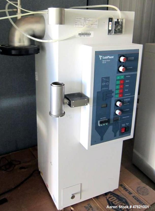 Used- Lab Plant Spray Dryer, Model SD-05, with Glassware. Includes: Peristaltic pump, unit only had a few trial runs perform...
