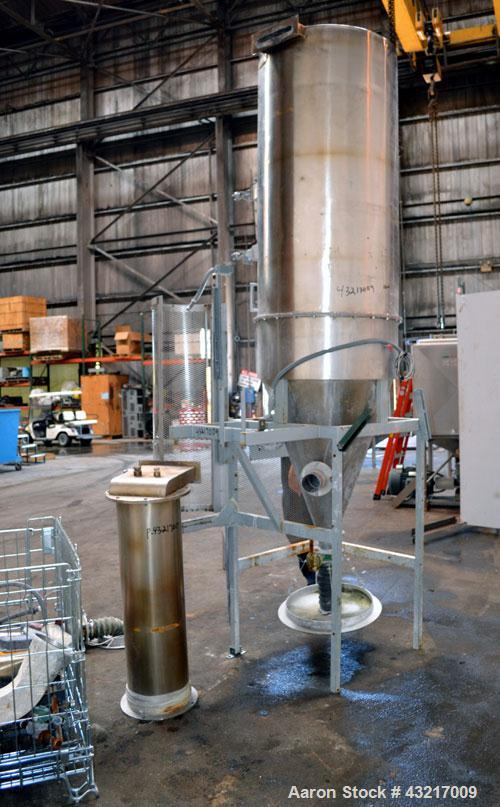 "Used- Stork-Bowen Engineering #1 Tower Spray Dryer, 316 Stainless Steel. 30"" Diameter x 72"" straight side x 37"" coned bottom..."