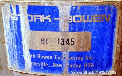 "Used- Stork-Bowen Engineering #1 Tower Spray Dryer, 316 Stainless Steel. 30"" Diameter x 72"" straight side x 37"" coned bottom..."