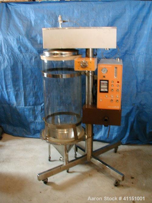 Used-Yamato Laboratory Spray Dryer, Model DL-41. Glass drying chamber 45 cm diameter x 100 cm high, nozzle spray system, app...
