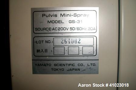 "Used- Yamato Lab Spray Dryer. Glass chamber approximately 10"" diameter x 20"" high. Spray, digital temperature controls, spra..."