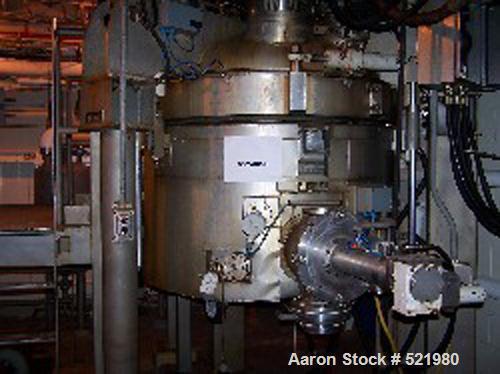 USED: Cogeim Hastelloy C-22 pan dryer, model EV1500. Volume 277 gallons working capacity. Shell rated 15/FV @ 350 deg F. Hal...