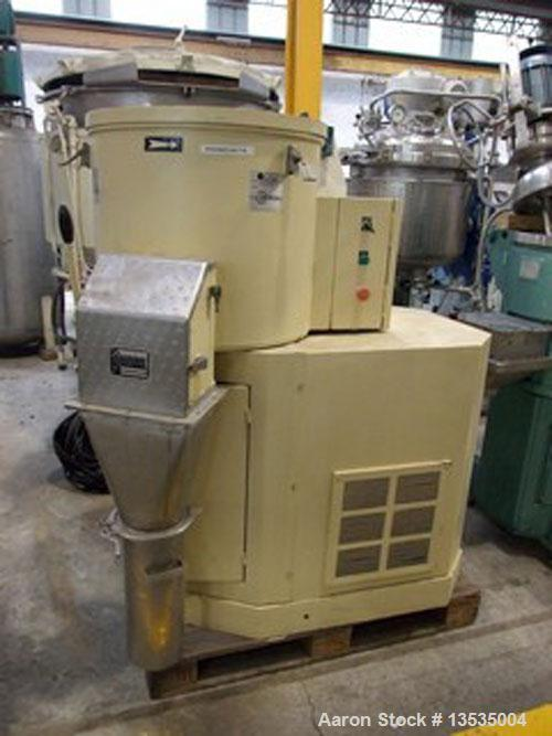 Used-Guedu 175 LE_PO  mixer/dryer, 140 liters (37 gallons) working capacity, 5,6 kW (7.5 hp) motor, made of stainless steel.