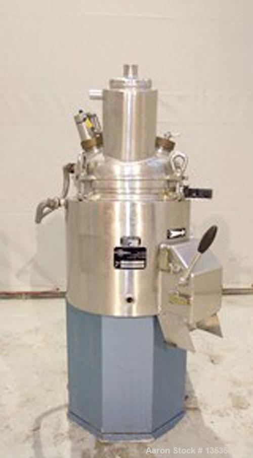 Used-Guedu 20 NO/PO Mixer/Dryer, stainless steel, 5.3 gallon (20 liters) total capacity, jacketed, 2 hp, 50 hz drive. Intern...