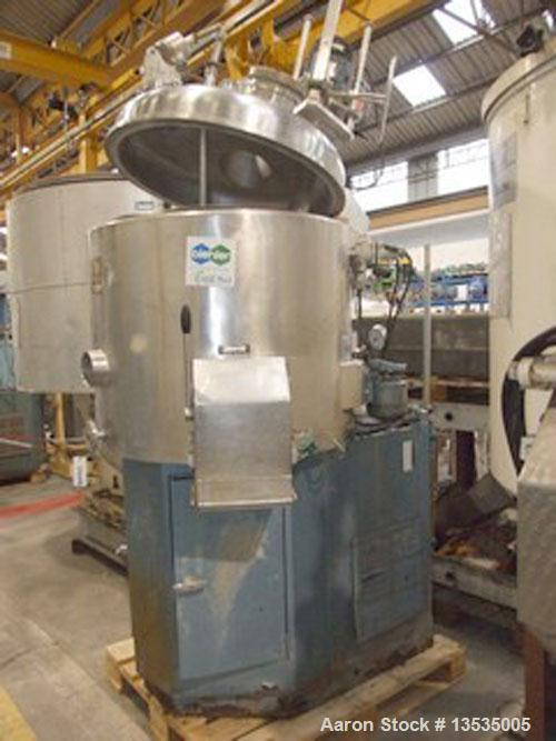 Used-Guedu 350 NO/PO mixer/dryer, 250 liters (66 gallons) working capacity, 11 kW (15 hp) motor, made of stainless steel, do...