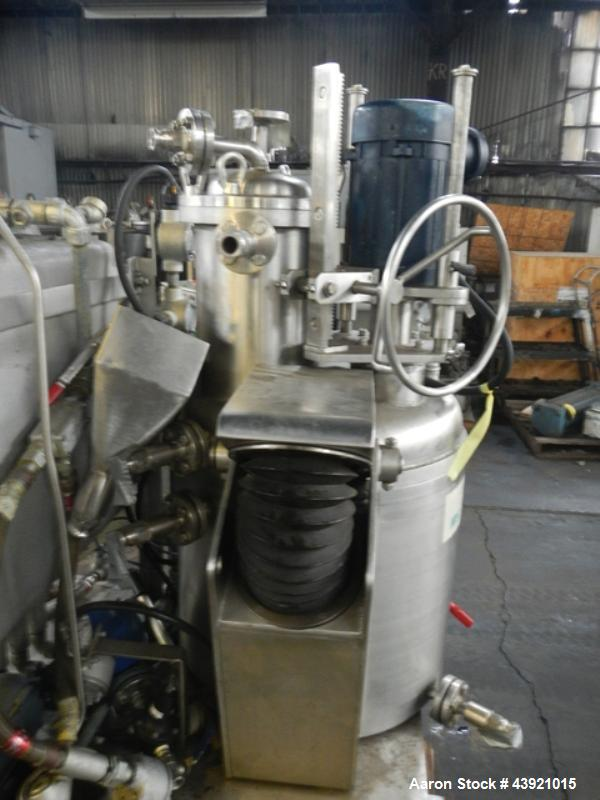 "Used- Rosenmund / Guedu Pan Dryer, 100 Liter Capacity, Hastelloy C22 construction. Approximately 21.6"" diameter x 19"" straig..."