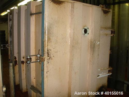 Used:  Vacuum shelf dryer, approximately 451.70 square feet, carbon steel. Two hinged doors with sight glass.