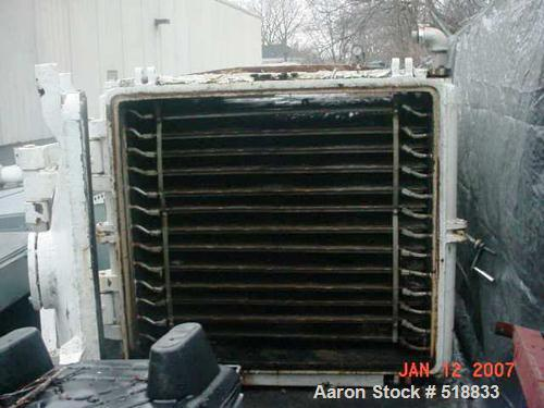 USED: Vacuum shelf dryer, approximately 530 square feet. Operating temperature of up to 220 deg F. Dryre has a steam to wate...