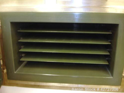 Used- Steri Tech Bucher Vacuum Shelf Dryer, Type VTS E13M2, 3 square meter (30 square feet), 316L stainless steel. Halar lin...