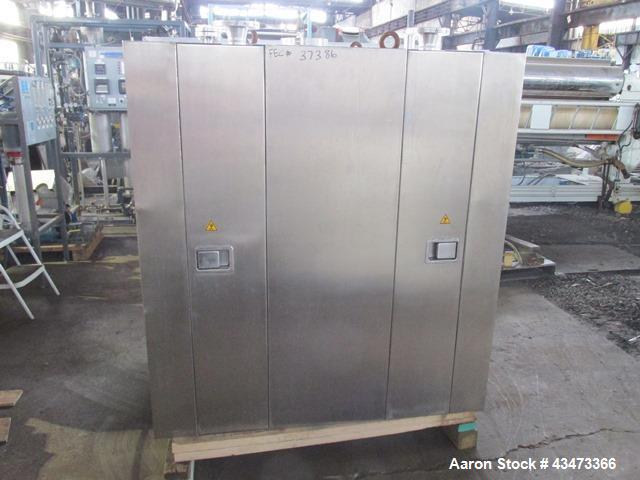 Used- Bucher Vacuum Shelf Dryer, Model VTS8MT2. 8 Square meter (86 square feet) shelf area, Hastelloy C276 construction. Int...