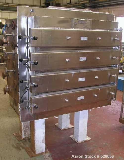 USED: Caimic Eurovent vacuum shelf dryer. 42.8 sq ft (4 sq m) heating surface. Material of construction is 316L stainless st...