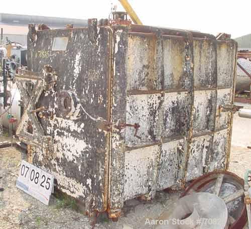 "USED: Devine No 28 vacuum shelf dryer, 613 sq ft, cast iron body.Chamber 60"" wide x 69"" high x 84"" deep, rated full vacuum. ..."