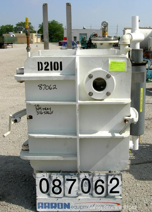"""Used- Devine Vacuum Shelf Dryer, Approximately 20 Square Feet. Carbon steel chamber 30"""" wide x 36"""" high x 29-1/2"""" deep. (6) ..."""