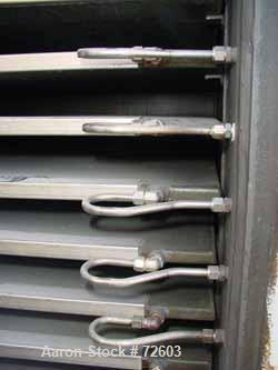 "USED: Devine vacuum shelf dryer, approx 185 sq ft surface area, castaluminum. Unit has 17 heated shelves (16 usable) 42"" wid..."
