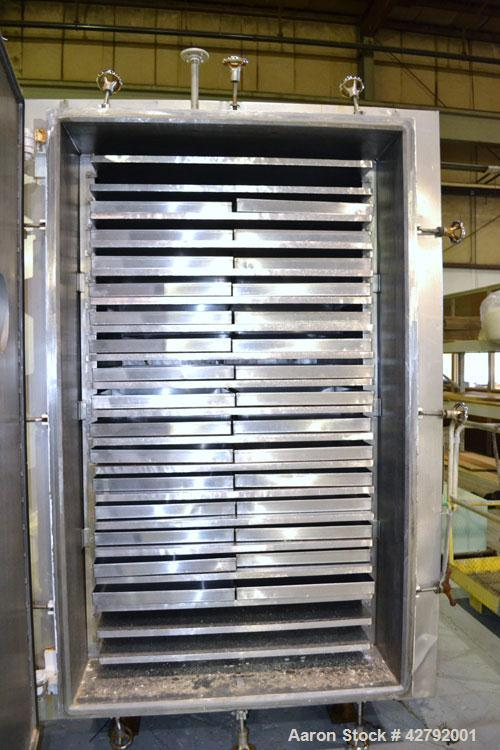 Used- Hull Vacuum Shelf Dryer, Model 10GS20, Approximately 350 Square Feet. (19) 309 Stainless U stamped jacketed shelves 44...