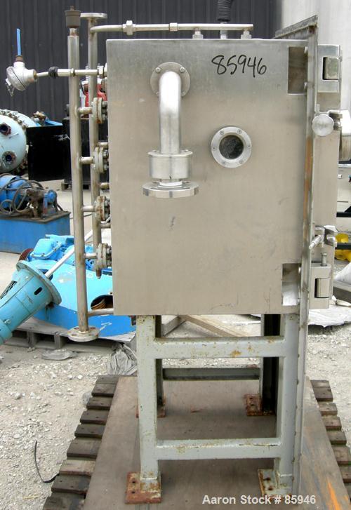 "USED: Italvacuum Vacuum Shelf Dryer, model EO2, approximately 9 square feet, 316 stainless steel. (4) 19-3/8"" wide x 19-3/8""..."