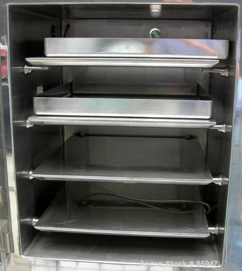 "USED: Italvacuum vacuum shelf dryer, model EO2, approximately 9 square feet, 316 stainless steel. (4) 19-3/8"" wide x 19-3/8""..."