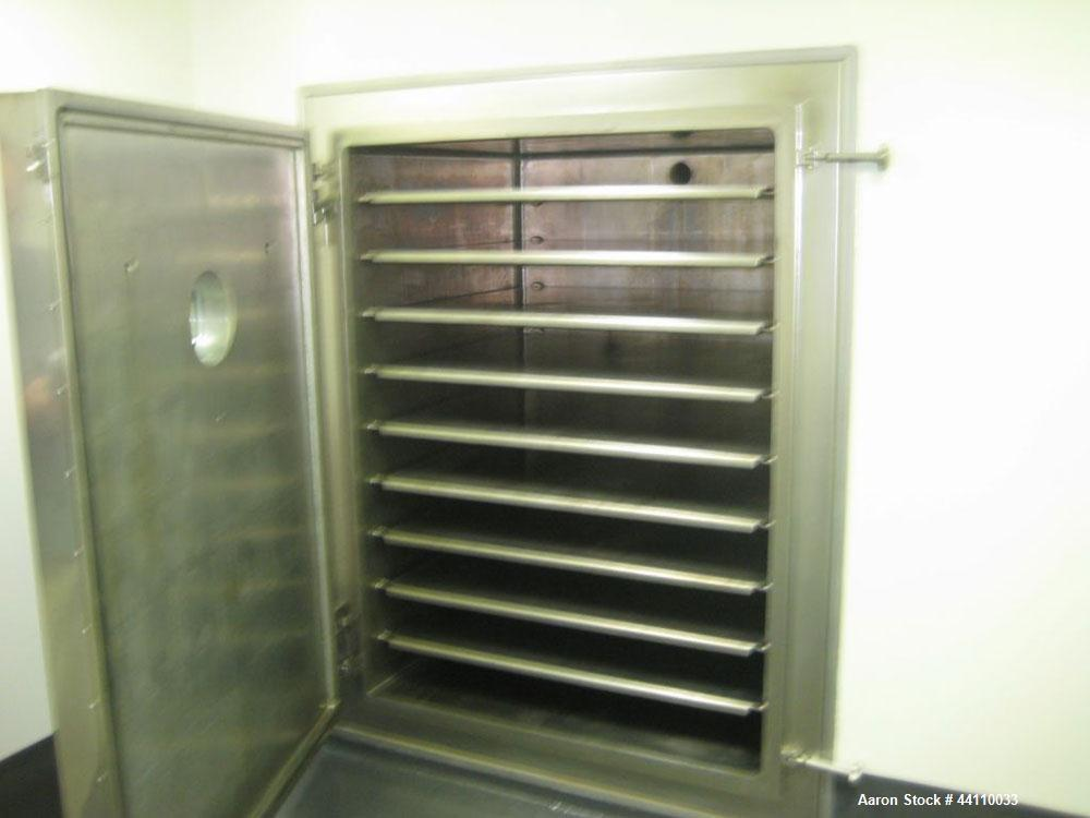 Used- Stainless Steel Pink Thermosysteme Gmbh Vacuum Tray Dryer, Model VT-1100-950-1550-5