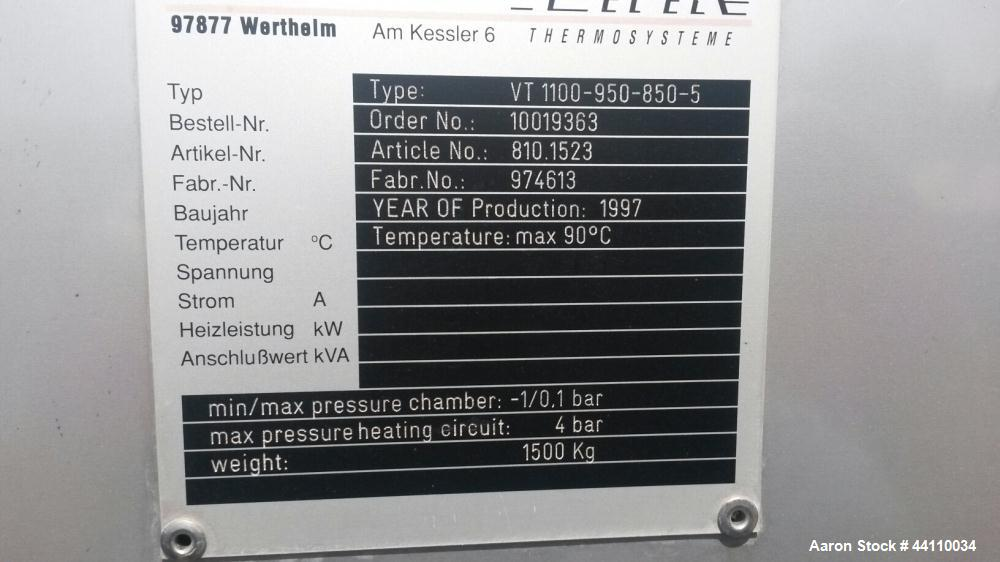 Used- Stainless Steel Pink Thermosysteme Gmbh Vacuum Tray Dryer, Model VT-1100-9