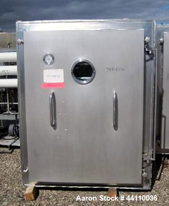 Used- Pink Thermosysteme Gmbh Vacuum Tray Dryer, Approximate 110 Square Feet, Model VT-1100-950-1550-10, Stainless Steel. Ch...