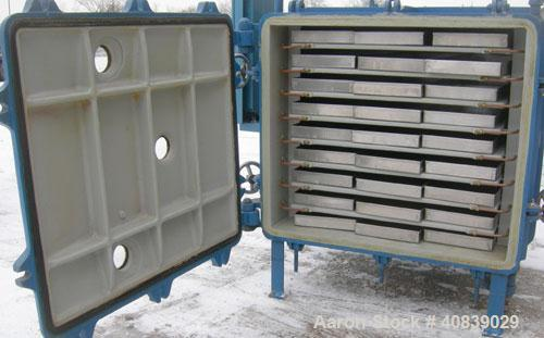 """Used- Stokes Vacuum Shelf Dryer, Model 138-H, Approximately 97.6 Square Feet, Carbon Steel. (8) 44"""" Wide x 40"""" deep x 1"""" thi..."""