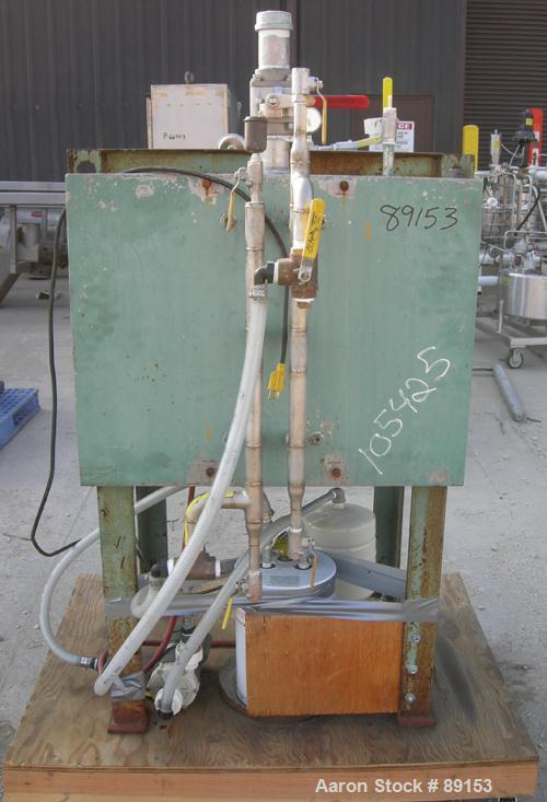 """USED: Stokes vacuum shelf dryer, model 338-B-2, 8 square feet, 304 stainless steel. (3) 24"""" wide x 24"""" deep x 1"""" thick shelv..."""