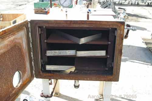 USED: Stokes vacuum shelf dryer, model 338-B-3. Fabricated carbon steel construction, approximately 12 square feet. (4) shel...