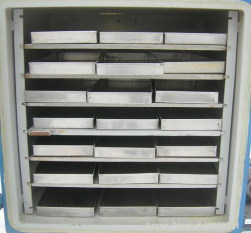 """Used- Stokes Vacuum Shelf Dryer, Model 338-H, Approximately 73.3 Square Feet, Carbon Steel. (6) 44"""" Wide x 40"""" deep x 1"""" thi..."""