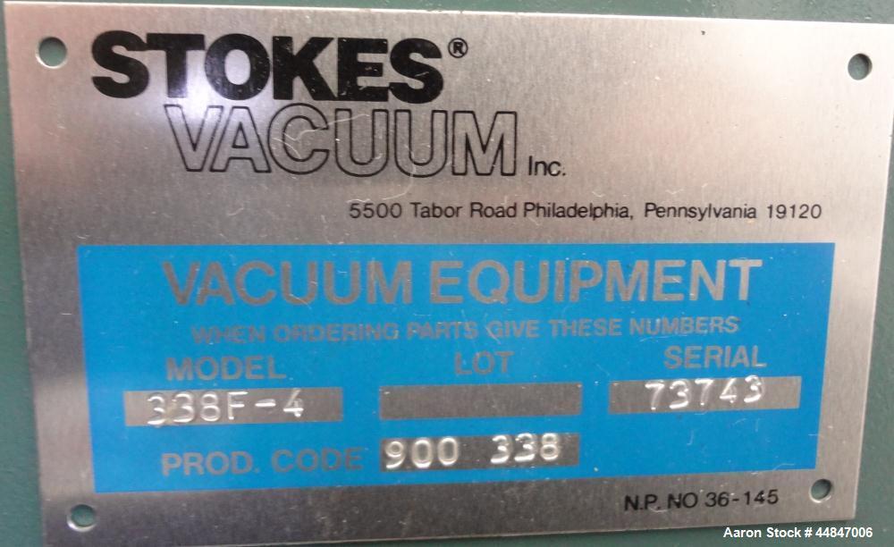 Used- Carbon Steel Stokes Vacuum Shelf Dryer, Model 338F-4