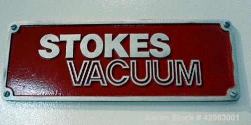 "Used- Stokes Vacuum Shelf Dryer, Model 338J-22. Approximately 268.8 square feet shelf area, 304 stainless steel. (22) 44"" wi..."