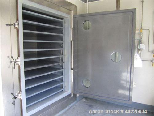 "Used- Stokes Vacuum Shelf Dryer, Model 900-338-205. Halar lined carbon steel. (10) 44"" x 40"" Shelves, 5.6"" spacing, 95.2 cub..."