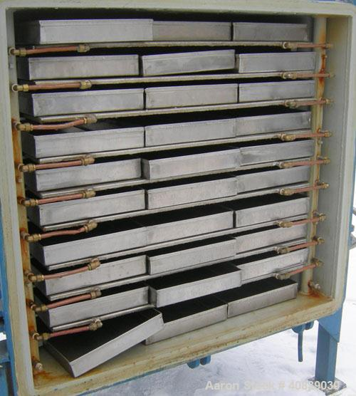 """Used- Stokes Vacuum Shelf Dryer, Approximately 109.8 Square Feet, Carbon Steel. (9) 44"""" Wide x 40"""" deep x 1/2"""" thick jackete..."""