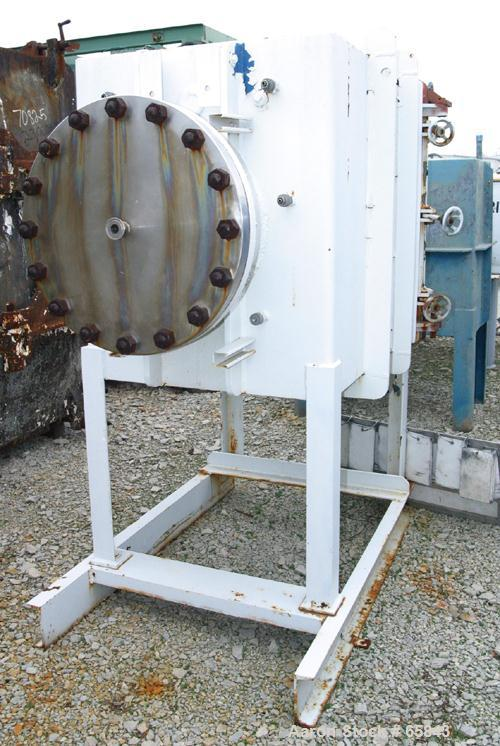 "USED: Stokes vacuum dryer, 23 square feet, carbon steel. 20"" wide x 34-3/4"" tall x 39"" deep chamber. (3) stainless steel tra..."