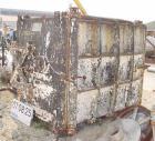 USED: Devine No 28 vacuum shelf dryer, 613 sq ft, cast iron body.Chamber 60