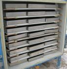 Used- Stokes Vacuum Shelf Dryer, Model 138-H, Approximately 97.6 Square Feet, Carbon Steel.(8) 44