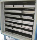 Used- Stokes Vacuum Shelf Dryer, Model 338-H, Approximately 73.3 Square Feet, Carbon Steel. (6) 44