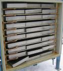 Used- Stokes Vacuum Shelf Dryer, Approximately 109.8 Square Feet, Carbon Steel. (9) 44