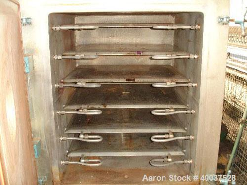 "Used- United McGill Vacuum Shelf Dryer, Model 3B, approximately 28 square feet, stainless steel. (6) 29"" wide x 23 1/2"" deep..."