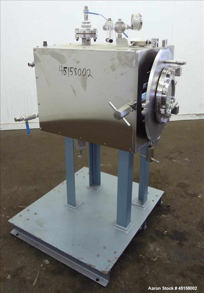 Used- Stainless Steel United McGill Vacuum Shelf Dryer, Model MD-1