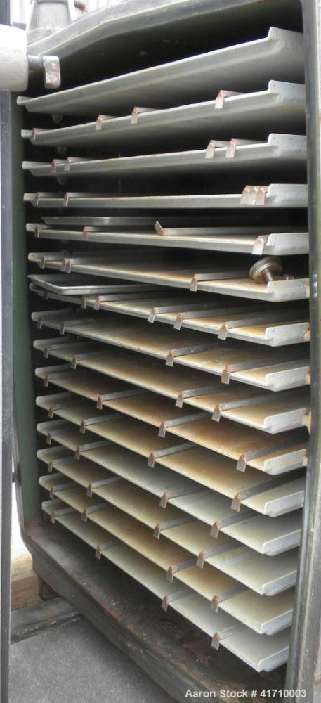 """Used- Von Roll Vacuum Shelf Dryer, approximately 183 square feet, carbon steel. (15) 48-3/4"""" wide x 35"""" deep jacketed coated..."""