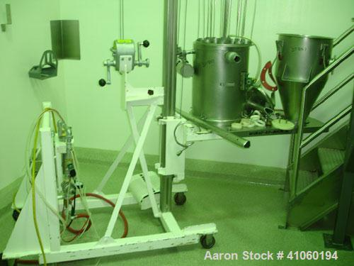 Used- Vacumax Dust Collector on stand, stainless steel construction, job #19/242.