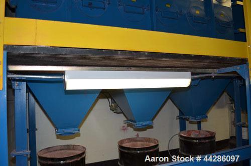 Used- Dust Collection System Including (1) Sly Dust Collector, Model HCF-4-4-36, Carbon Steel. (1) Sly Dust Collector, Model...