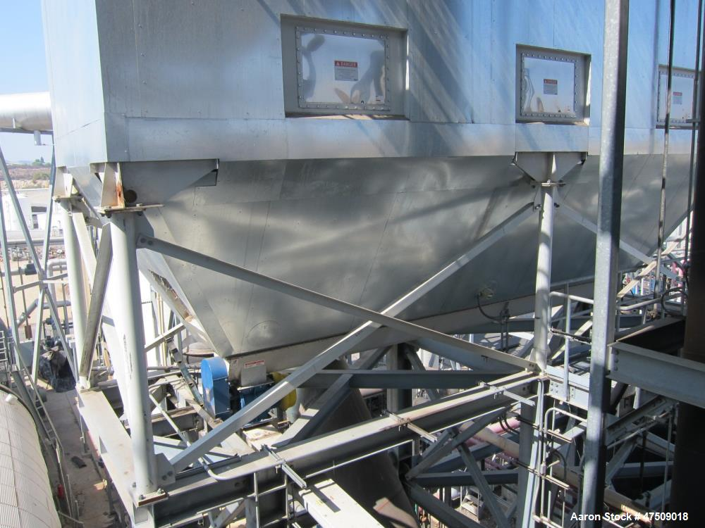 Used- Torit Donaldson FT Pulse Jet Dust Collector, Model 588-FTP-12, Carbon Steel. Approximate 11760 square feet filter area...
