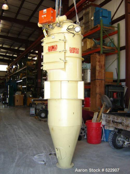 """USED: 33 sq ft round dust collector filter receiver, model 5214-102.3 pulse jet blow pipe header. 8 bags x 36"""" long. Note: B..."""