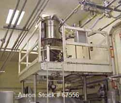 """USED:Dust collector, 316 stainless steel. (7) 5"""" diameter x 32"""" longbags providing 25 sq ft filter area. Housing measures 24..."""